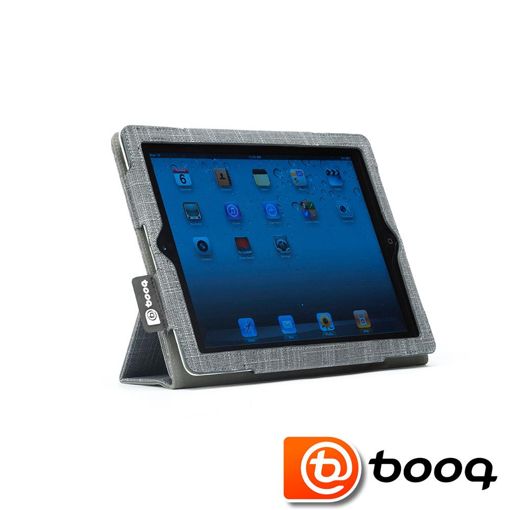 Booq New iPad 專用 Folio 丹寧典雅對開式保護套 (石磨灰)