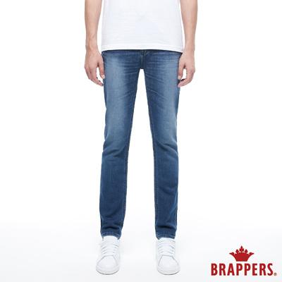 BRAPPERS 男款 HGN系列-中腰針織彈性直筒褲-藍