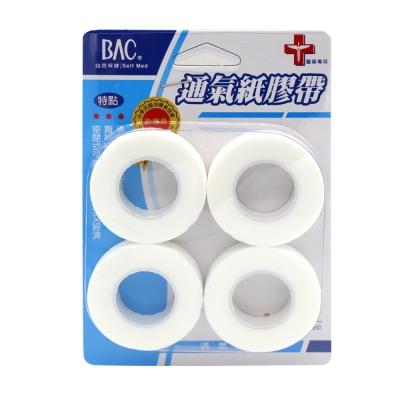 喬領BAC倍爾康 透氣膠帶(未滅菌)x4入-透明