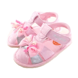 蝴蝶結魔鬼貼寶寶鞋 粉 sk0154 魔法Baby