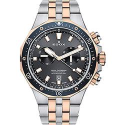 EDOX Delfin 水上冠軍專業200米防水計時碼錶-灰x雙色版/43mm