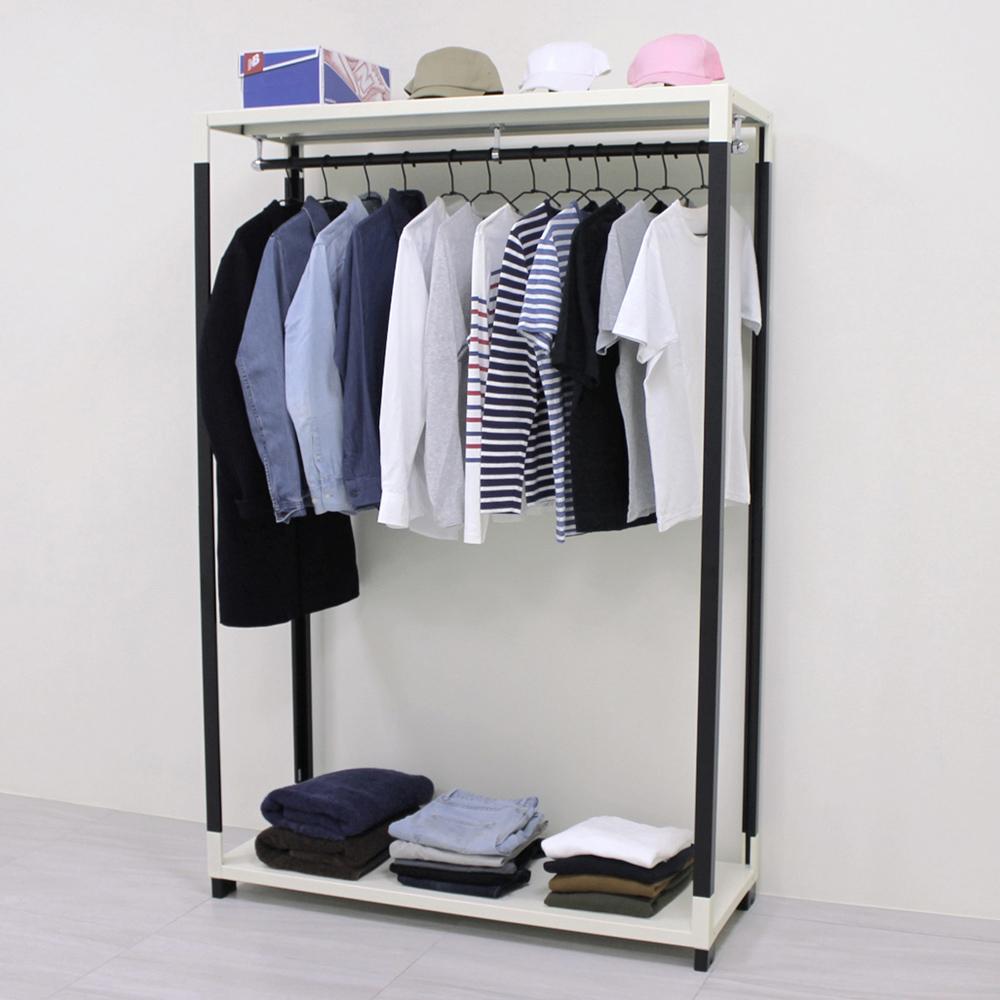 頂堅 [超耐重型]寬120公分-二層鐵板吊衣架/吊衣櫥(十年保固)