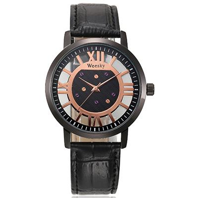 Watch-123 日光大道-歐風高雅羅馬字時標情侶手錶-黑盤黑帶x女/32mm