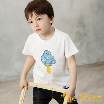 【The Shirts】大力士雲朵短袖T恤 (白色)