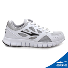 ERKE 鴻星爾克。女運動綜訓慢跑鞋-正白