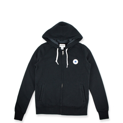CONVERSE-女休閒帽T外套10004541A01-黑