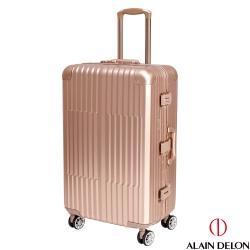 ALAIN DELON 亞蘭德倫 25吋 絕代風華系列鋁框行李箱/旅行箱 (金)
