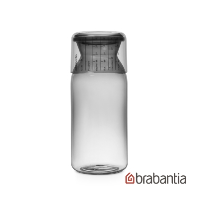 Brabantia 粉彩量杯曲線儲存罐1.3L-淺灰