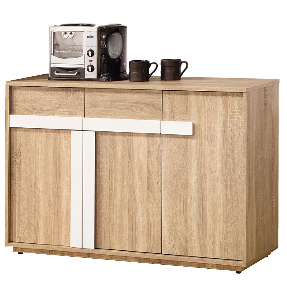 品家居 朵雅莉4尺收納餐櫃下座-119x39.8x80cm-免組