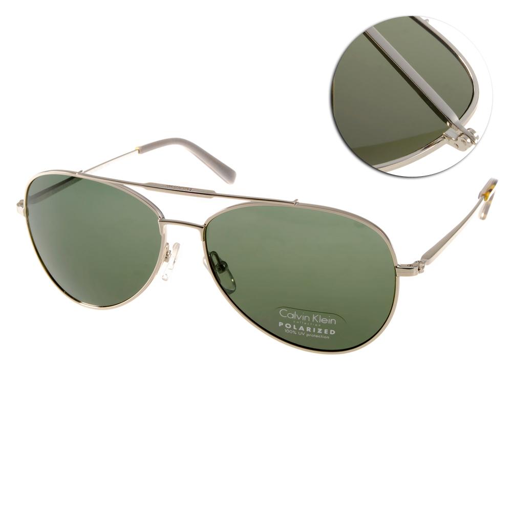 Calvin Klein太陽眼鏡 時尚飛官款/銀#CK7477SP 014