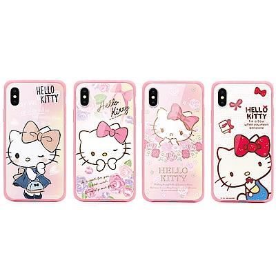 GARMMA  Hello Kitty iPhone X 四角防撞玻璃殼