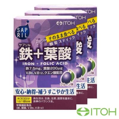 日本井藤ITOH 鐵+葉酸粉3盒