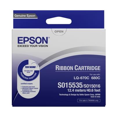 EPSON S015535色帶(十入)(適用LQ-670/680)