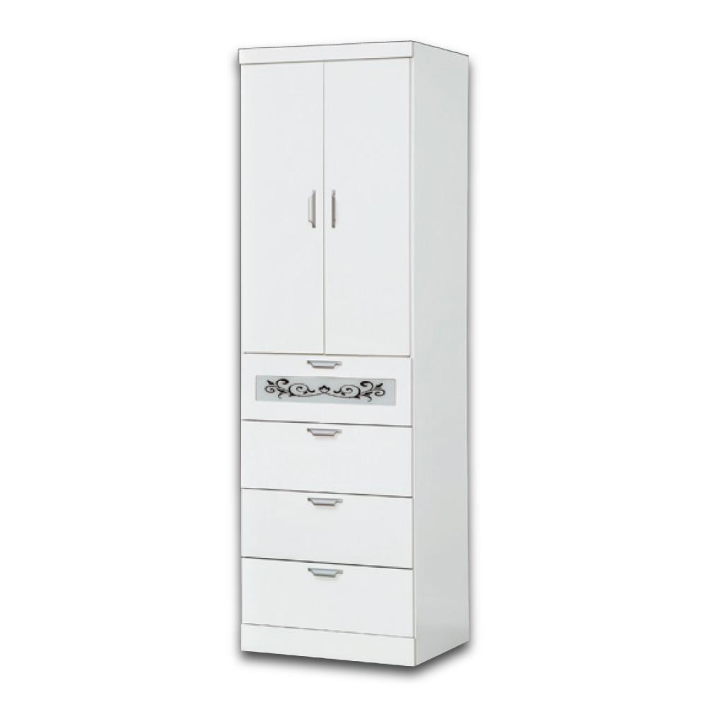 華麗風 艾比蓋兒2尺衣櫃-60x56x198cm