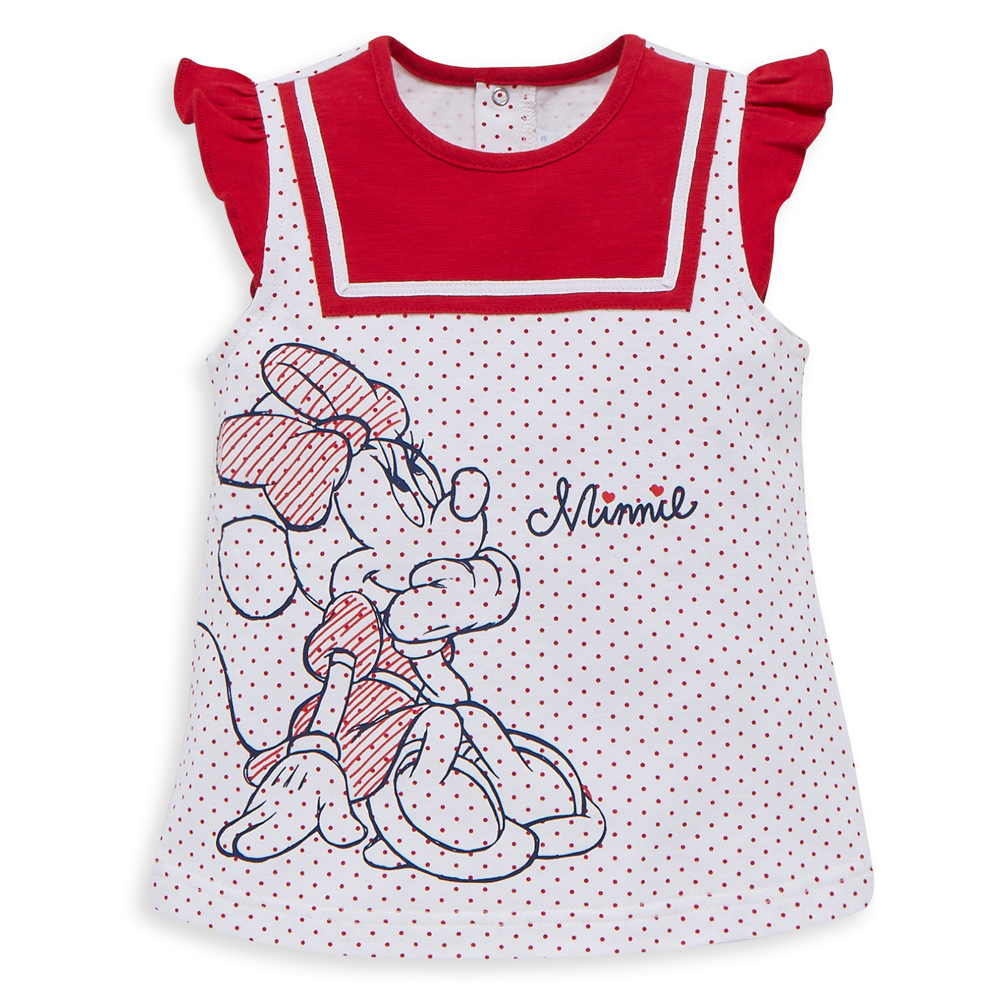 Disney 米妮系列點點水手荷葉上衣 (2色可選)