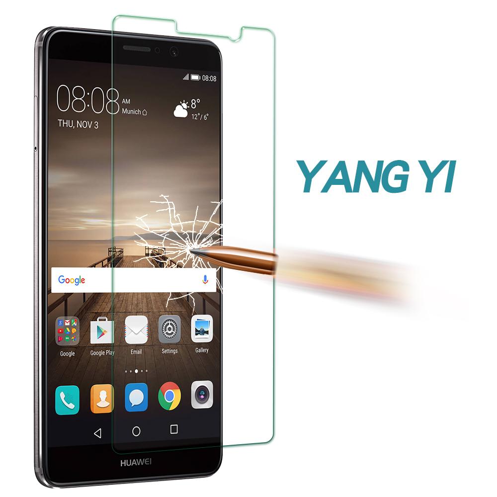 揚邑 Huawei Mate 9 防爆防刮防眩弧邊 9H鋼化玻璃保護貼膜 @ Y!購物
