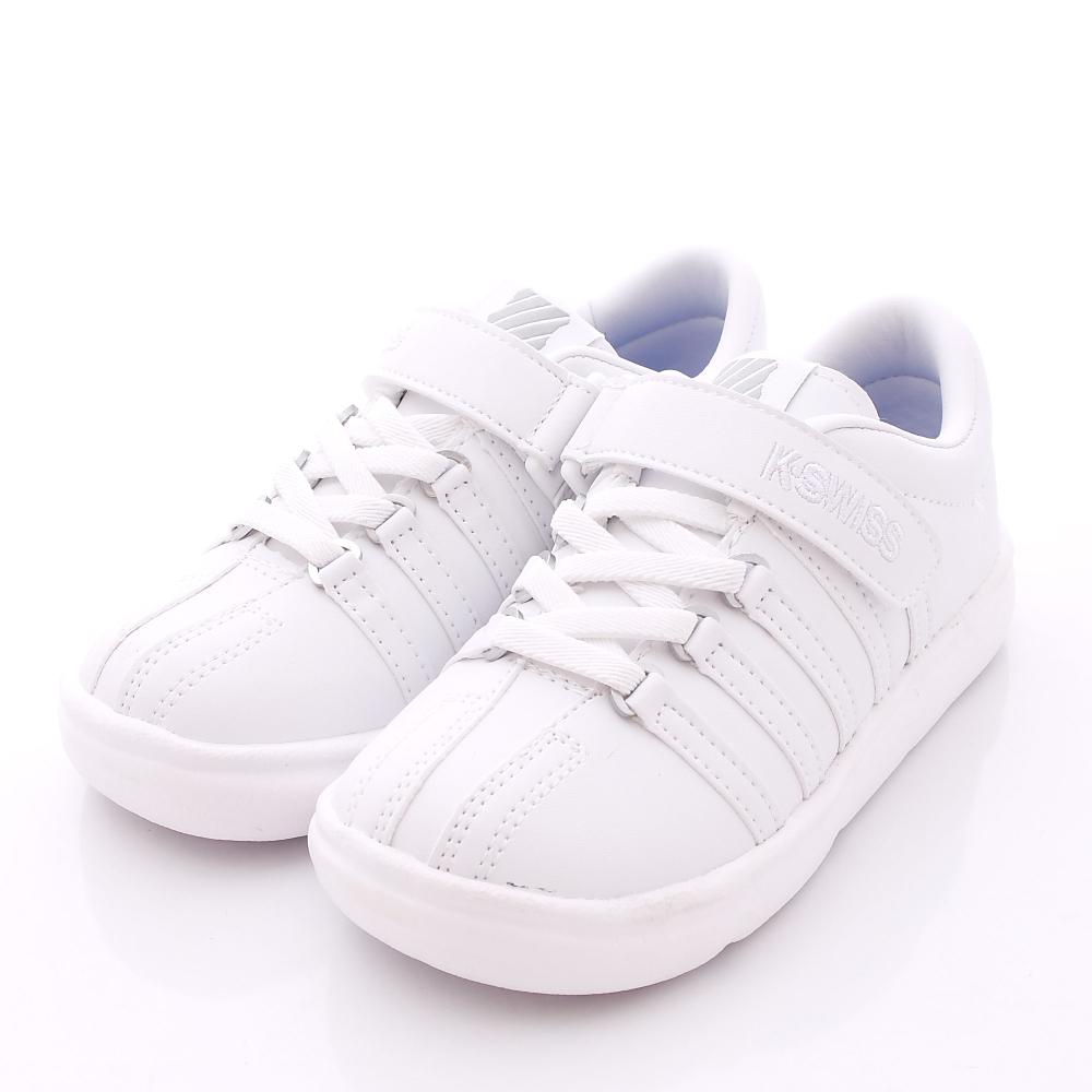 K-SWISS童鞋-私校純白慢跑款-CL052WW(中大童段)N