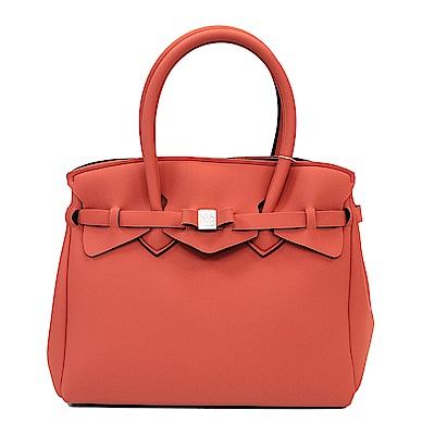 SAVE MY BAG 義大利品牌 MISS系列 橙紅超輕量手提托特包