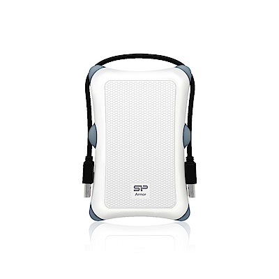 SiliconPower 廣穎 A30 HDD 1TB 2.5吋行動硬碟-白色