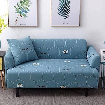 日創優品 簡約時尚高彈力沙發套-小蜜蜂3人座 (贈同款抱枕套x1)