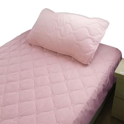 bedtime story 舒適繽紛彩虹保潔墊-粉色-雙人5尺床包式