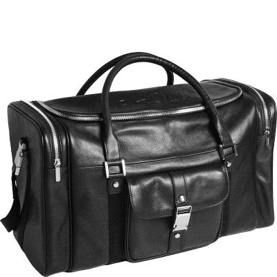 OBHOLIC 義大利NAPPA軟牛皮 旅行袋 (黑)