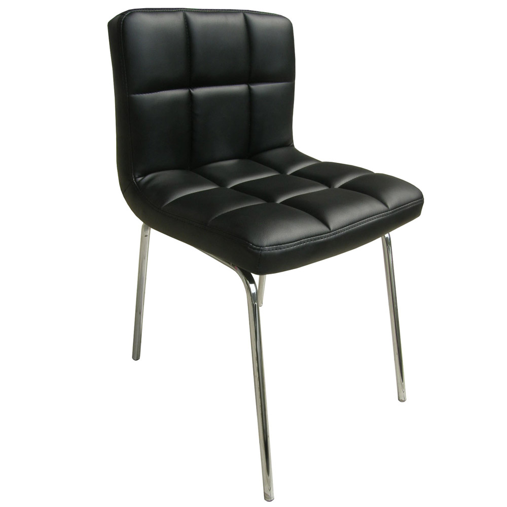 E-Style 高級精緻PU皮革椅面-洽談椅/電腦椅/會客椅/餐椅(三色可選)4入組