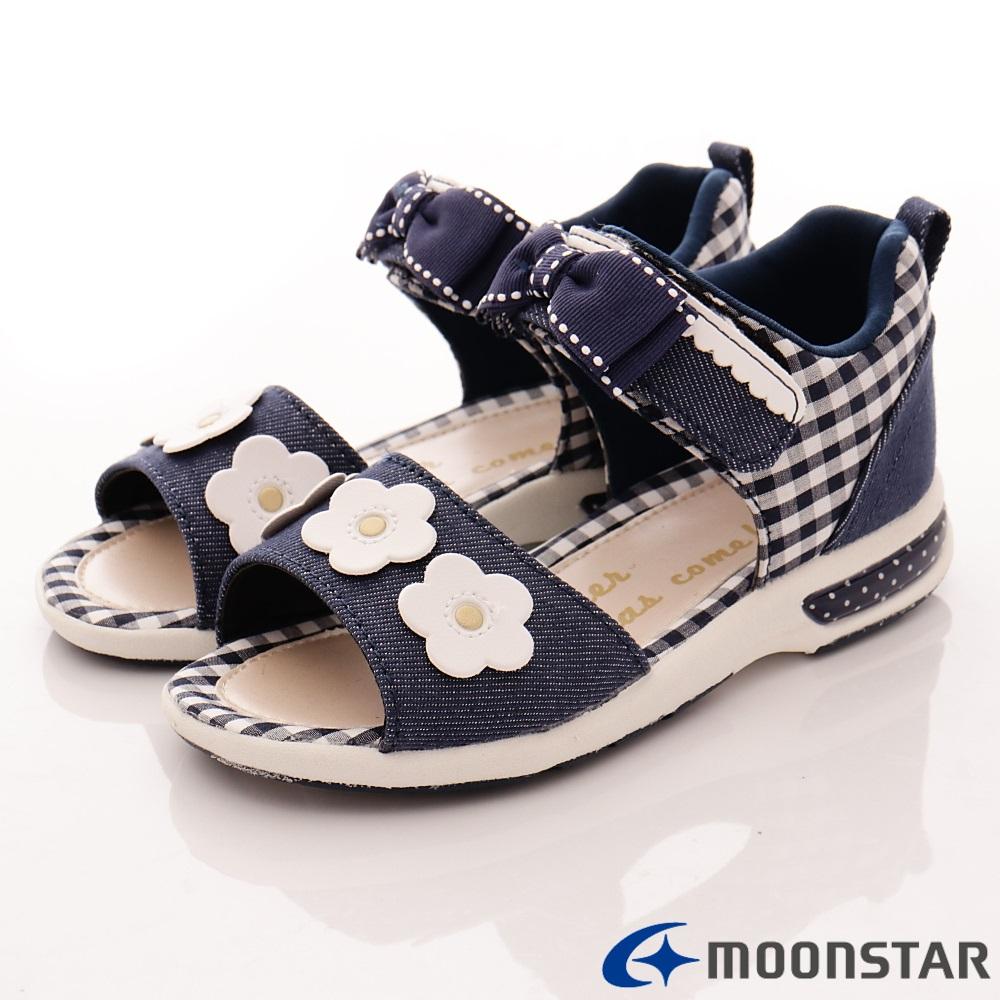 日本Carrot機能童鞋 高支撐涼鞋TO1815深藍(中小童段)