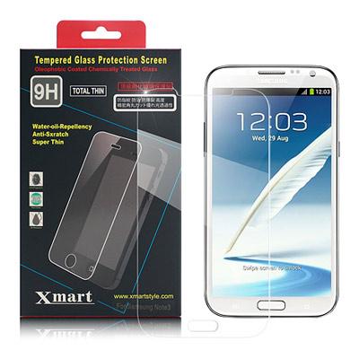 X mart 三星GALAXY Not2 N7100強化0.26mm耐磨防指紋玻...