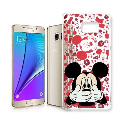 迪士尼 Samsung Galaxy Note 5 大頭透明手機軟殼(摀嘴米奇)