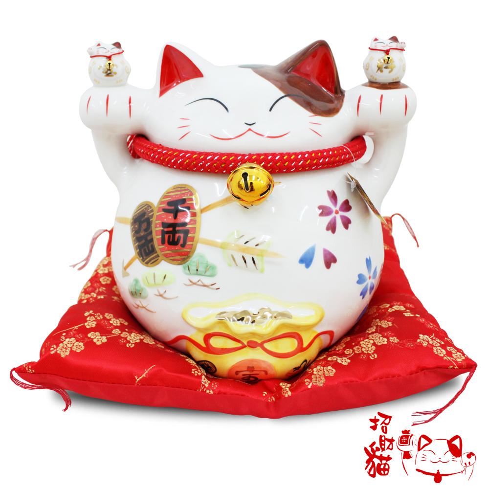 招財貓12吋色彩招財進寶貓(J11227C)