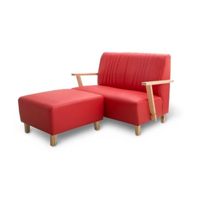 日安家居-Eliot艾瑞特MIT經典雙人沙發(含腳椅)/三色