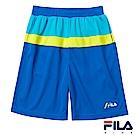 FILA KIDS 男童吸濕排汗短褲-寶藍 1SHS-4408-AB