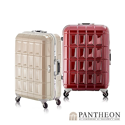 日本PANTHEON 26吋 玫瑰紅  網美行李箱 輕量鋁框登機箱