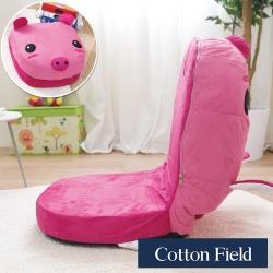 棉花田 粉紅豬 可愛動物仿麂皮折疊和室椅