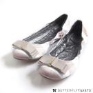 BUTTERFLY TWISTS-SLOAN可折疊扭轉芭蕾舞鞋-裸膚/白條紋