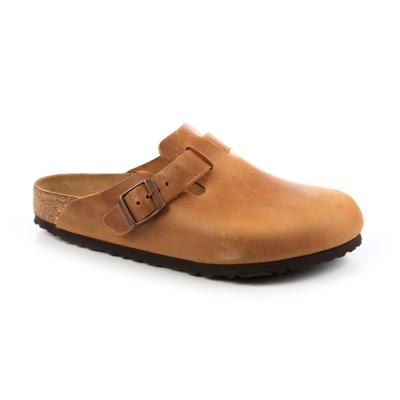 勃肯BIRKENSTOCK 760891。波斯頓包頭拖鞋(土黃)