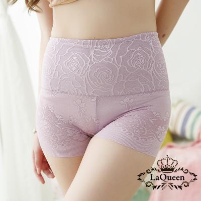 塑褲-舒適高腰蠶絲修飾褲-豆沙-La-Queen