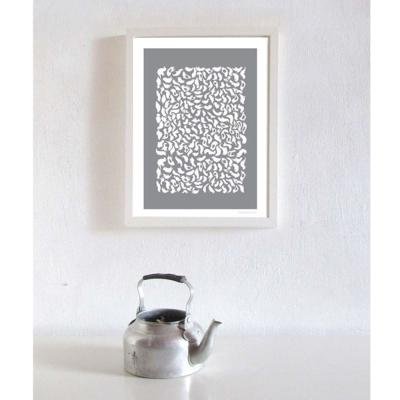 西班牙插畫家Judy Kaufmann藝術版畫-灰鳥(設計掛畫附簽名/含木框)