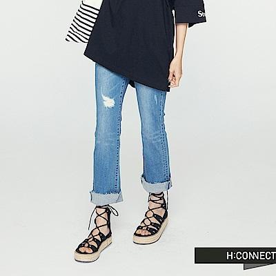 H:CONNECT 韓國品牌 女裝 -不收邊小喇叭牛仔褲