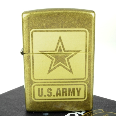 【ZIPPO】美系~U.S. Army-美國陸軍LOGO雷射雕刻打火機