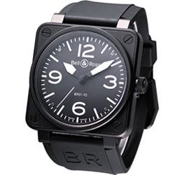 Bell & Ross 黑鷹戰士 自動機械腕錶-IP黑/46mm