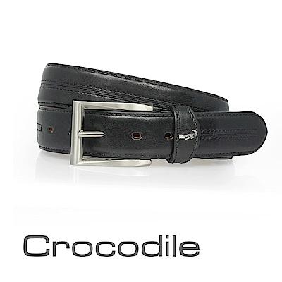 Crocodile Natural系列休閒皮帶 0102-30021