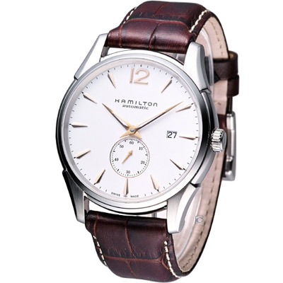 HAMILTON Jazzmaster 獨立式小秒針機械腕錶-白/43mm