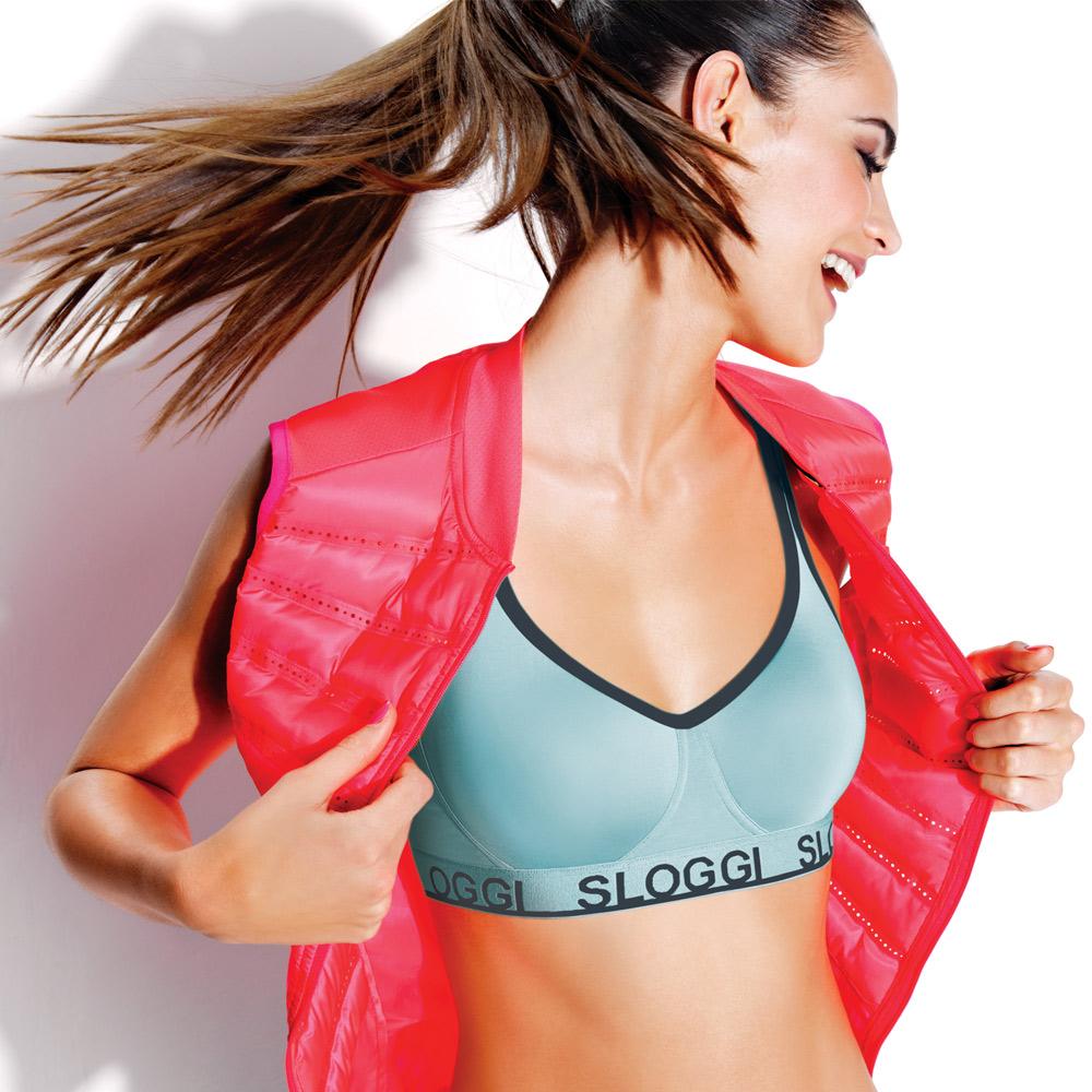 sloggi-Strength自由律動 B-D 無鋼圈運動內衣(低調藍)