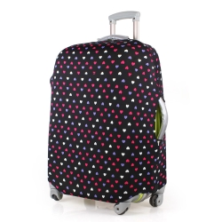 PUSH! 旅遊用品普普風情心心相印行李箱彈力保護套防塵套24寸適合22寸-26寸行李箱