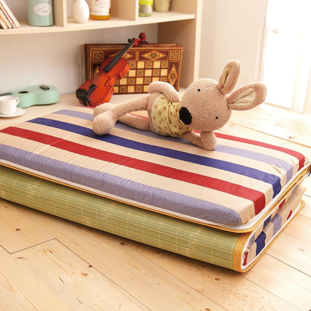 (好康)Saint Rose  單人台灣製純棉透氣精緻三折式冬夏兩用床墊-寫意生活