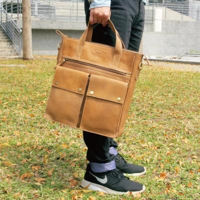 CALTAN-男用大包真牛皮 斜背包 專櫃包 男包 托特包 TOTE包-4916ht