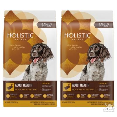 Holistic Select 活力滋 無穀成犬 鴨肉美膚低敏配方 12磅 X 2包