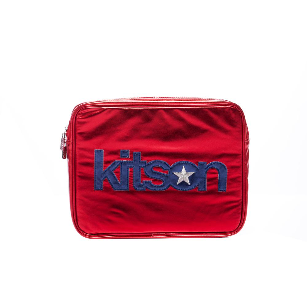 kitson 金屬光 NB / i-Pad 收納包-RED